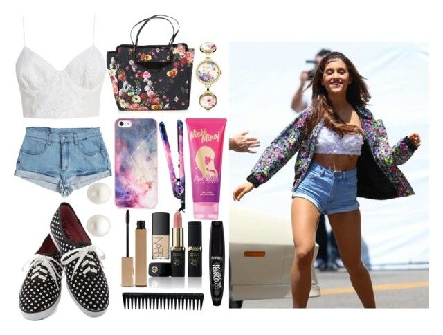 """""""inspired by Ariana Grande"""" by meiiiga ❤ liked on Polyvore featuring Somedays Lovin, Keds, Eva NYC, GHD, Clarins, NARS Cosmetics, Reeds Jewelers, Ted Baker, BlissfulCASE and Nicki Minaj"""
