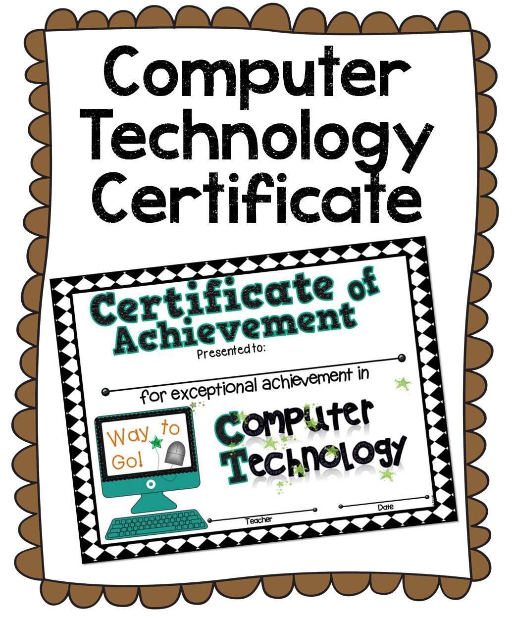 Computer technology certificate computer technology certificate award your computer savvy students with this colorful certificate 1betcityfo Images