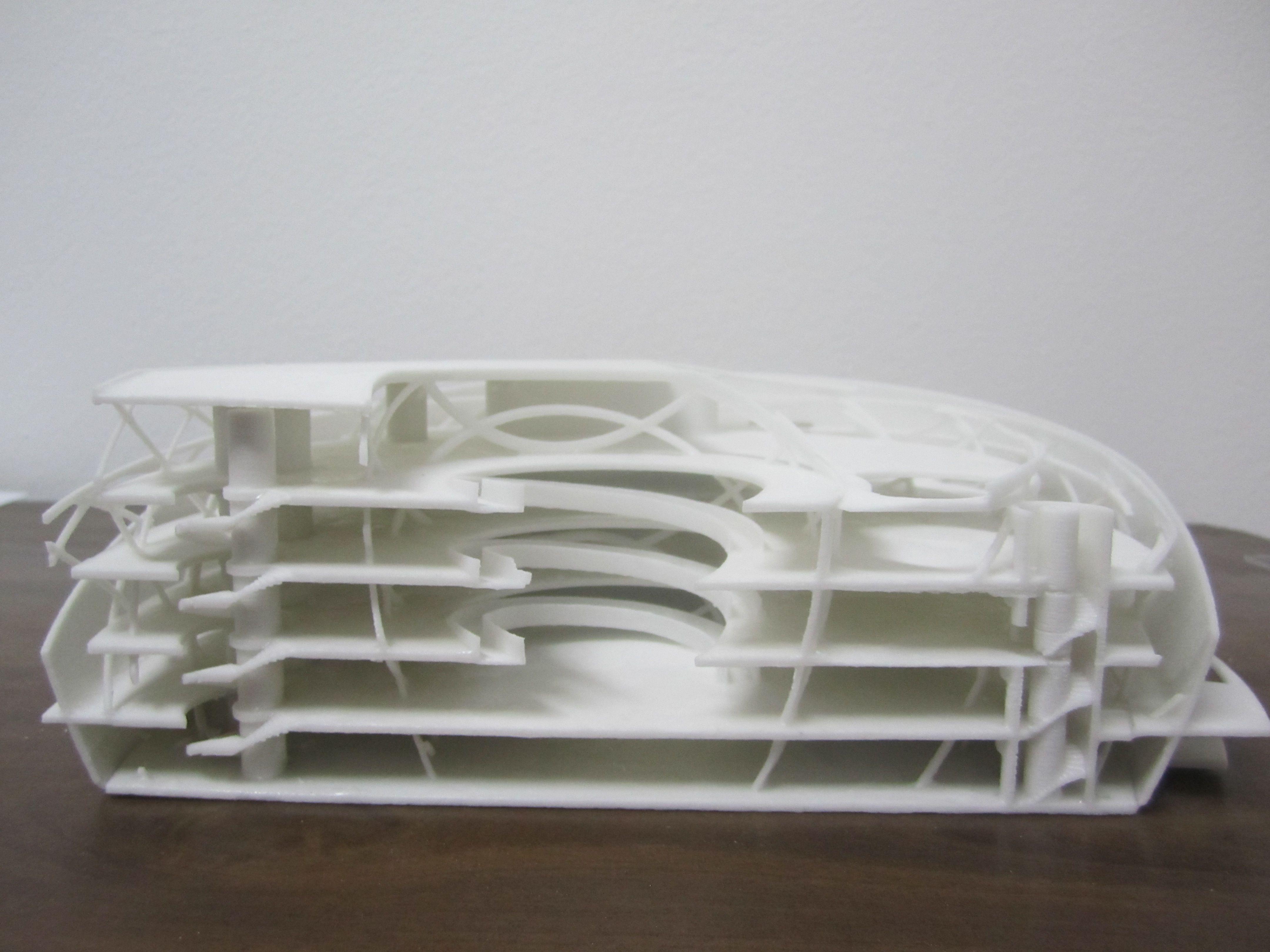 Impresi n 3d maqueta de corte de hospital maqueta para Impresion 3d construccion