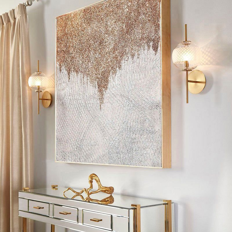 Large Shine Painting Gold Glitter Wall Art Living Room Extra Etsy Wall Art Living Room Living Room Art Wall Decor Living Room