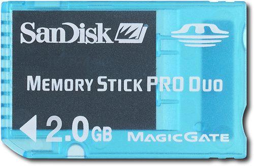 """SanDisk - Gaming 2 GB Memory Stick PRO Duo - 1 Card - Blue"" on Purchx"