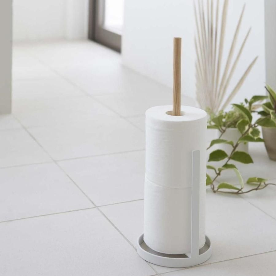 White Tosca Toilet Paper Stand In 2021 Toilet Paper Stand Free Standing Toilet Paper Holder Paper Stand