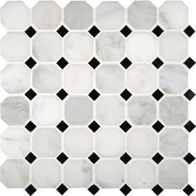 Octagon Floor Tile saveemail Msi Stone Ulc Greecian White Octagon 2 In Polished Marble Mesh Mounted Mosaic Floor Wall Tile Home Depot Canada Other Choice For Bathroom Floor