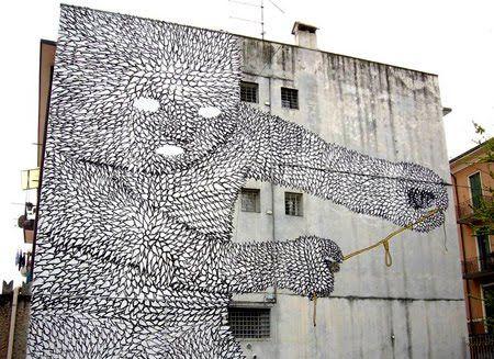 political graffiti by Blu