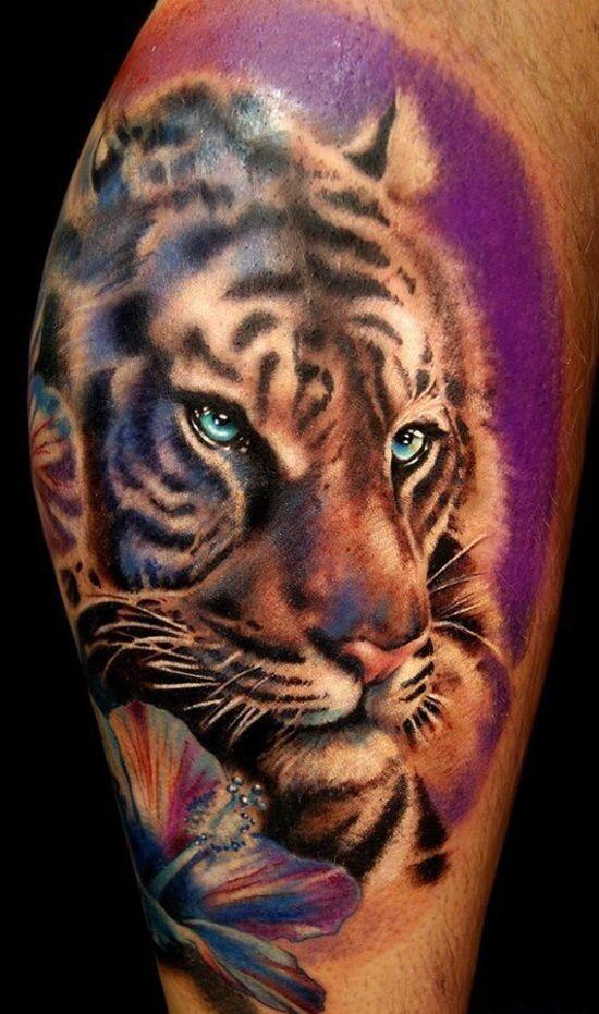 Tattoo Idea Right Thigh Tygrys Tatuaże Tatuaż I Tatuaż