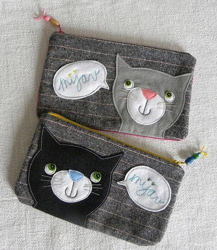 """Meow"" small pouches"