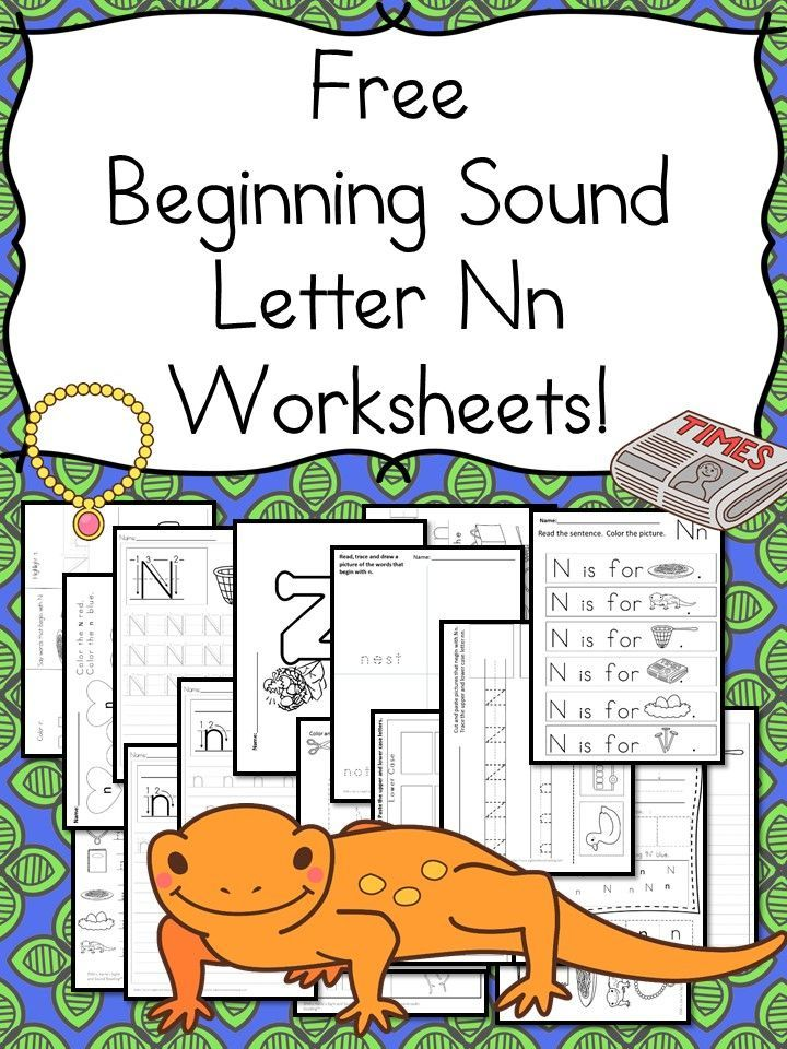18 Free Beginning Sound N Worksheets Easy Download Letter Of The