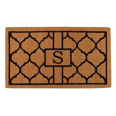 Home & More Kingston Handwoven Monogram Indoor/Outdoor Doormat - 180083672S
