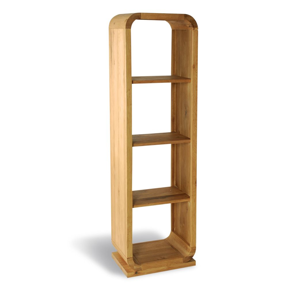 Open Bookcase with 3 Shelves – Natural Retro Oak Collection | Open ...