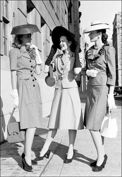 Risultati immagini per anni 40 moda  f993f5943e8