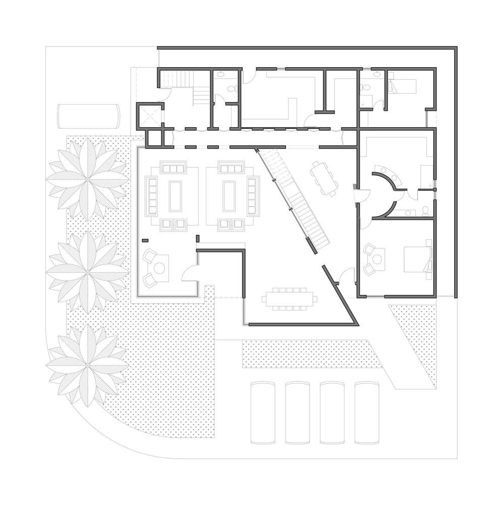 Gallery of Box House II / Mive Order - 9 | Box houses, Ground ... on chart house, icon house, label house,