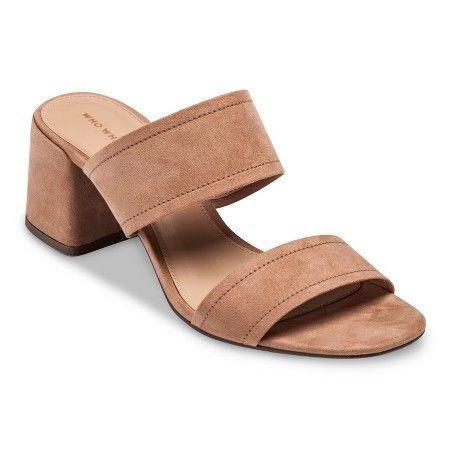 8f6b8cdbb8 Women's Who What Wear™ Carolina Double Band Block Heel Slide Sandals :  Target