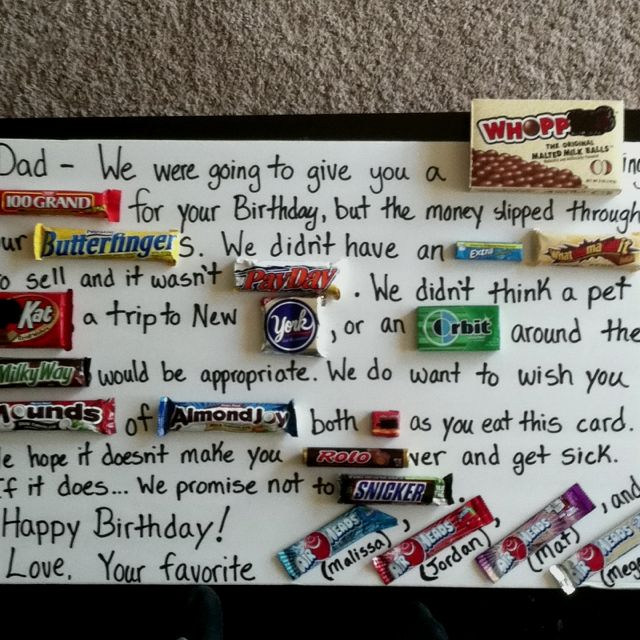 Happy 50th Birthday Dad!! (Thanks For The Idea Pinterest