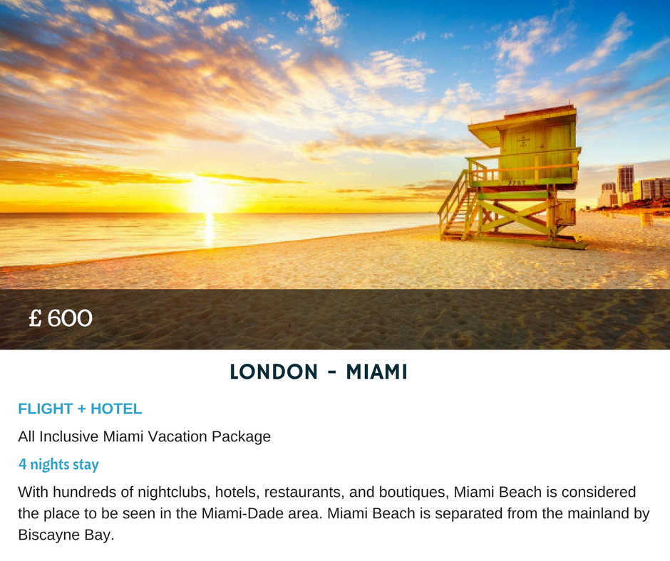 LONDON MIAMI All Inclusive Miami Vacation Package Nights Stay - Cheap packages to miami