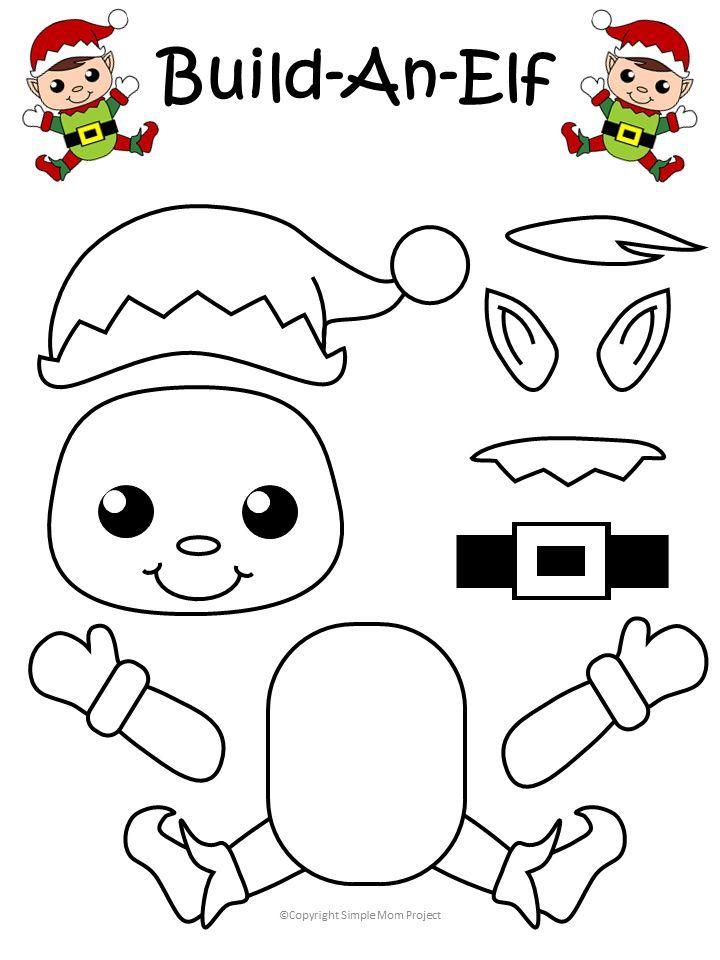 Easy Printable Christmas Elf Craft for Kids to Make