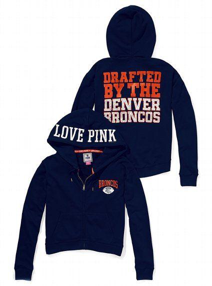 ffa3ea15c Denver Broncos Bling Slouchy Zip Hoodie - Victoria s Secret PINK® - Victoria s  Secret Denver Broncos