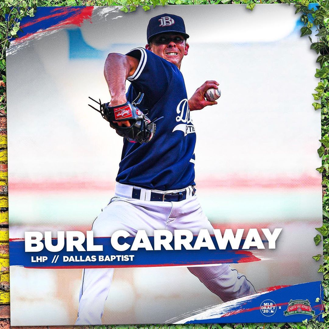 North Side Report On Instagram With The No 51 Pick In The 2020 Mlb Draft The Cubs Have Selected Burl Carraway Bur In 2020 Chicago Cubs Baseball Cubs Baseball Cubs