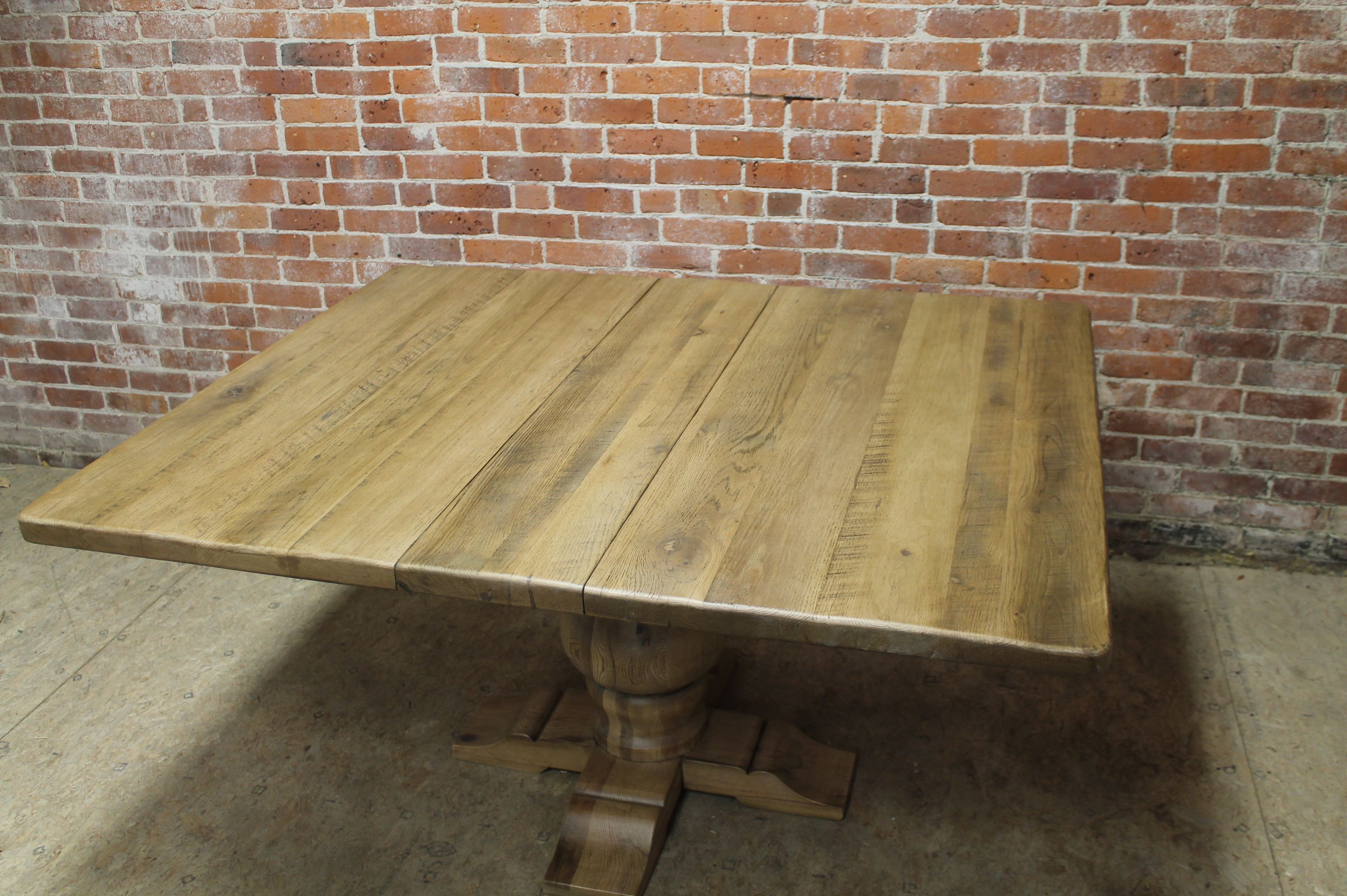 Reclaimed square table with center extension7 (With images ...