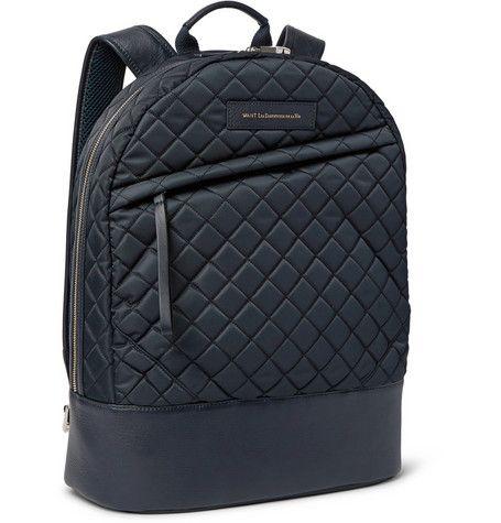 WANT Les Essentiels de la VieKastrup Leather-Trimmed Quilted Tech-Canvas Backpack