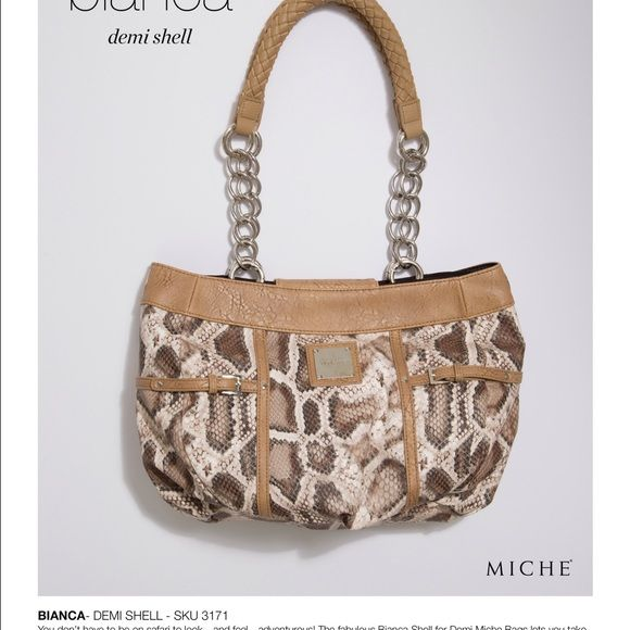 Miche Bianca Brand New With Straps 2 Bags Hobos
