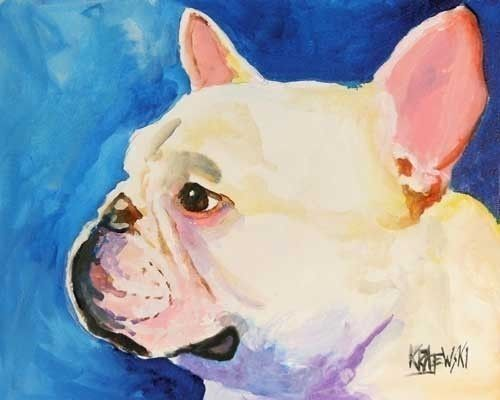 Pet Silhouette Custom Pet Portrait from photo French Bulldog portrait Bird Animal Watercolor Painting 8 x 10 Unique detailed Gift