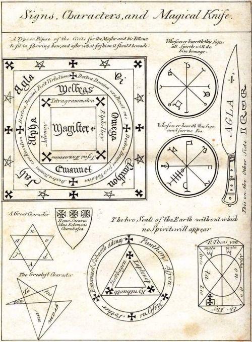 Occult Symbolism Talisman Okkulte Symbole Buch Der Schatten Magie
