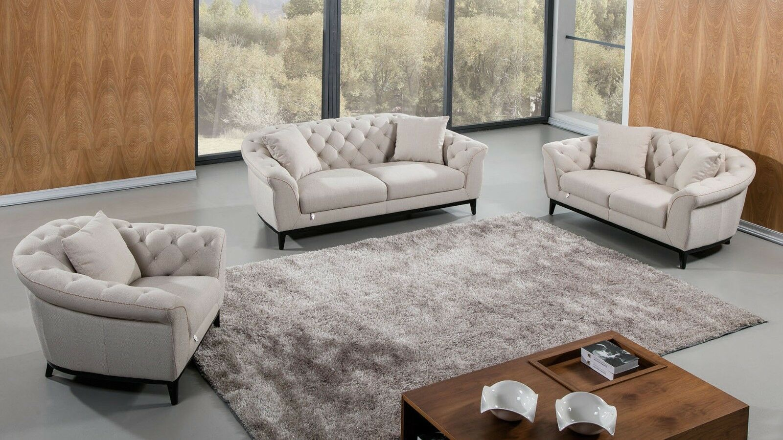 3 Pc Modern Cream Fabric Sofa Loveseat Chair Living Room Couch Set Sofa Living Ideas Of Sofa Living Sofaliving Sof With Images Sofa Set Couches Living Room Couch Set