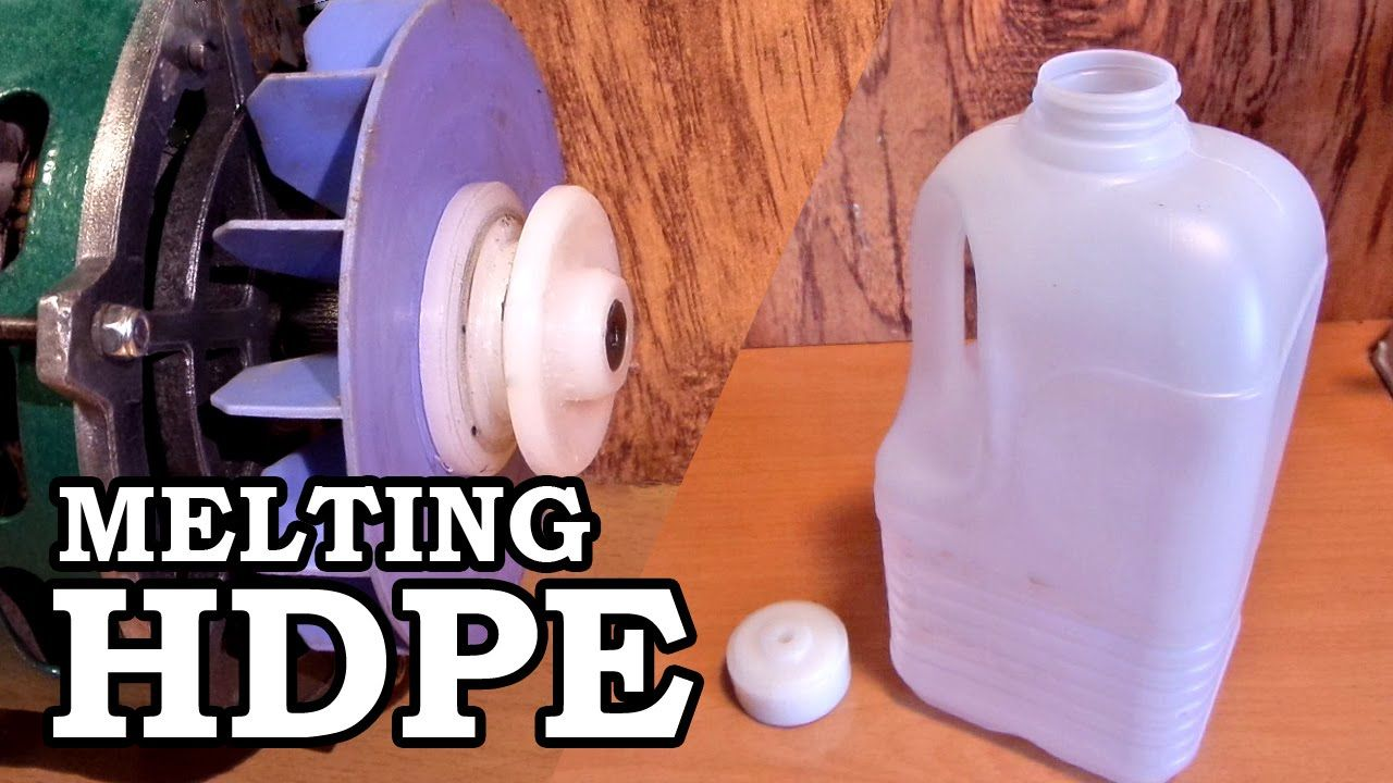 Making Plastic Rod Stock Melting Hdpe Milk Jugs Met