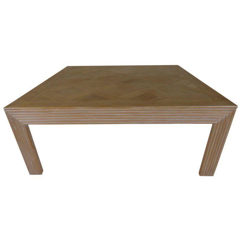 1980s Mid Century Modern Lane Inlaid Wood Coffee Table Round