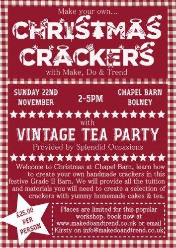 Make Do & Trend Handmade Christmas Crackers Workshop