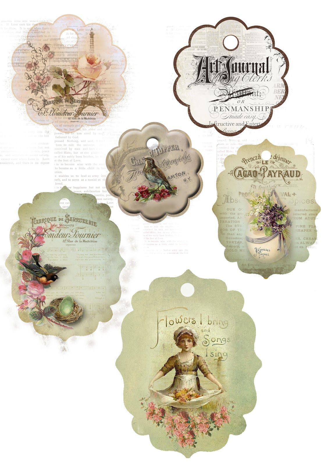 Astrid's Artistic Efforts: My Freebies.  Tags : Gift tags, labels, ephemera, printable images, decoration & DIY paper crafts. Amazingly gracious site.