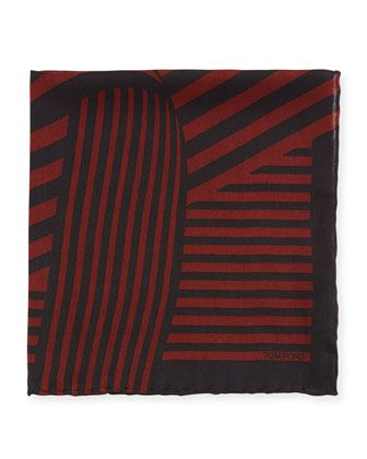 Wide-Stripe Pocket Square by TOM FORD at Bergdorf Goodman.