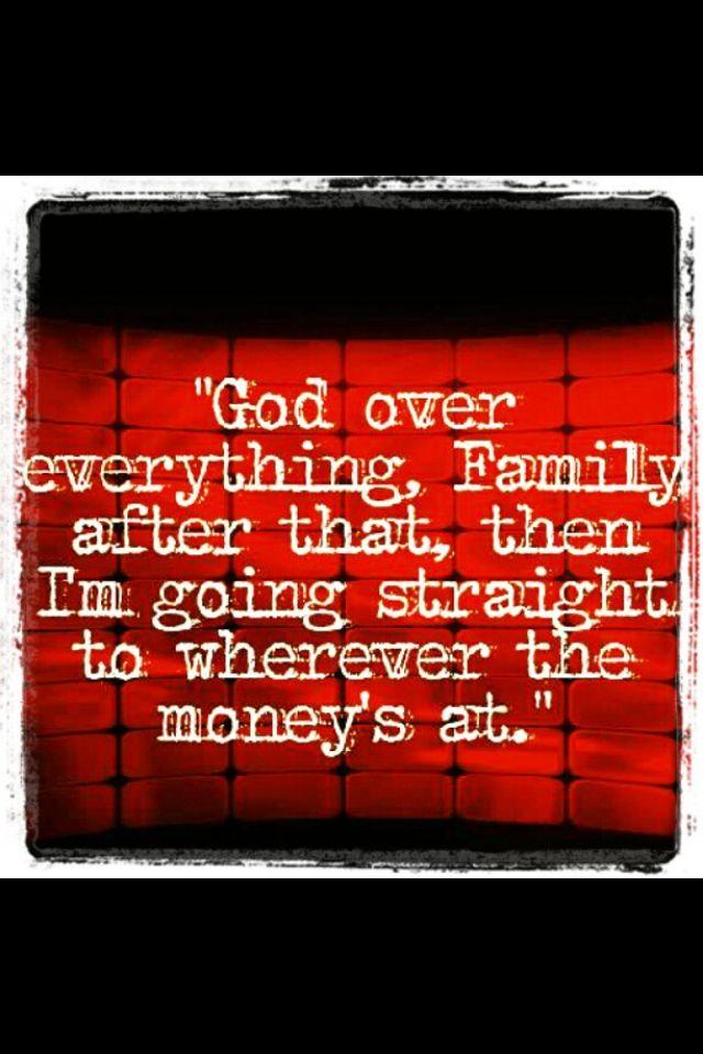 God Family Money Inspirational Words Lyric Quotes Words