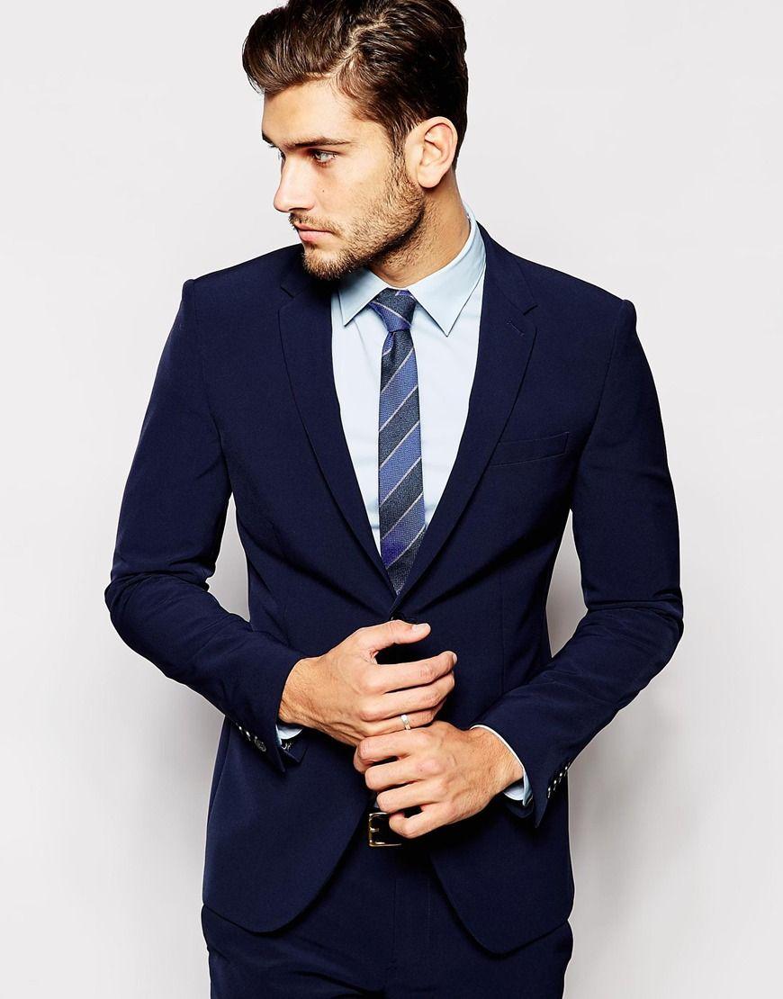 302b90f91 United Colors of Benetton Suit Navy in Slim Fit | Men Suits | Suit ...