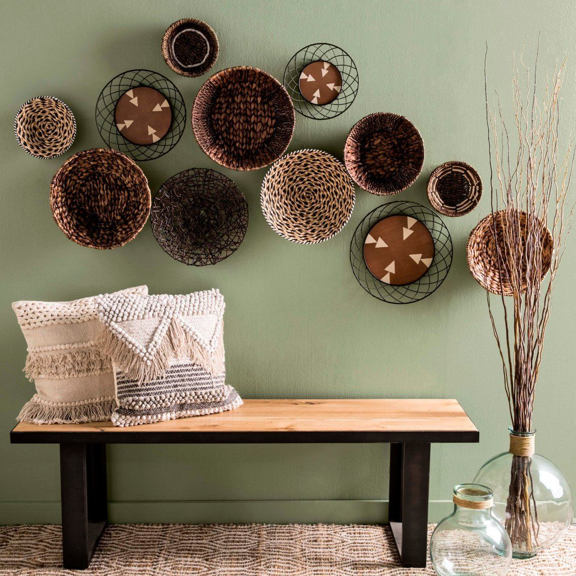Update Your Entryway With An Eclectic Boho Basket Wall Stylish