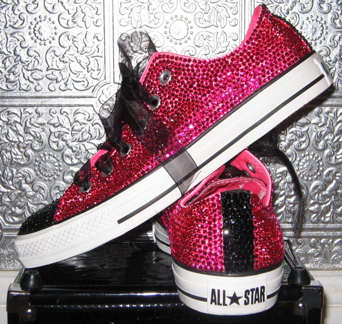 03f7ed5a1a60a Converse/ rhinestone converse/ converse bling/ converse all star ...