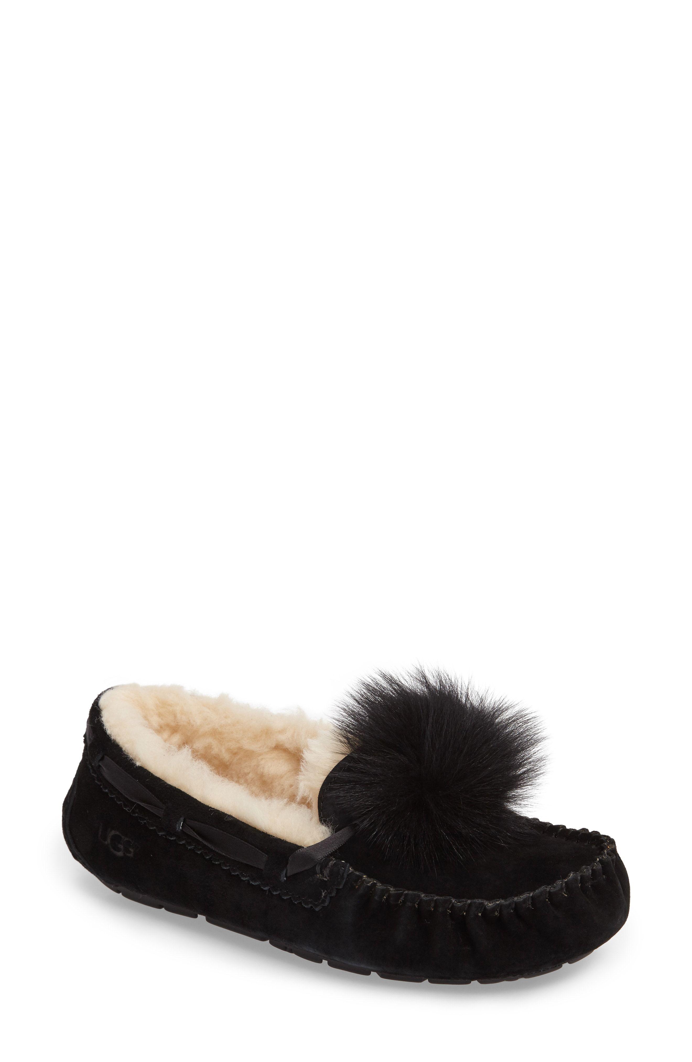 e6b812a94e9 UGG® Dakota Genuine Shearling Pompom Slipper available at #Nordstrom ...