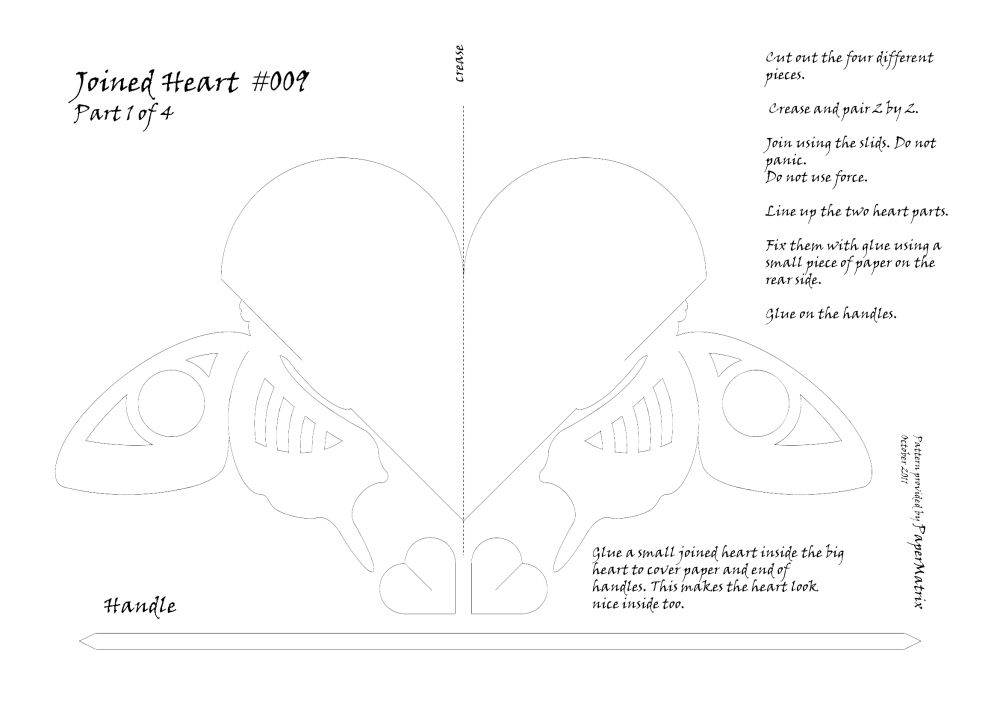Joined Heart with Butterfly or #009