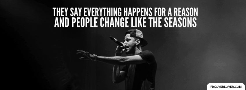 Lost Ones by J Cole Lyrics Facebook Cover fbCoverLover