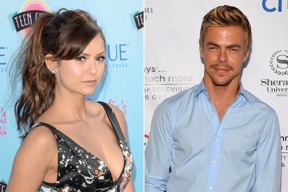 Nina Dobrev Derek Hough Call It Quits Derek Hough Nina Dobrev Celebrities