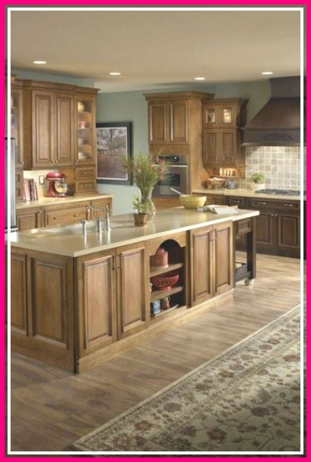 10 Beautiful White Kitchen With Red Oak Floors