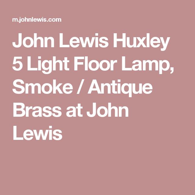 John Lewis Huxley 5 Light Floor Lamp, Smoke / Antique Brass ...