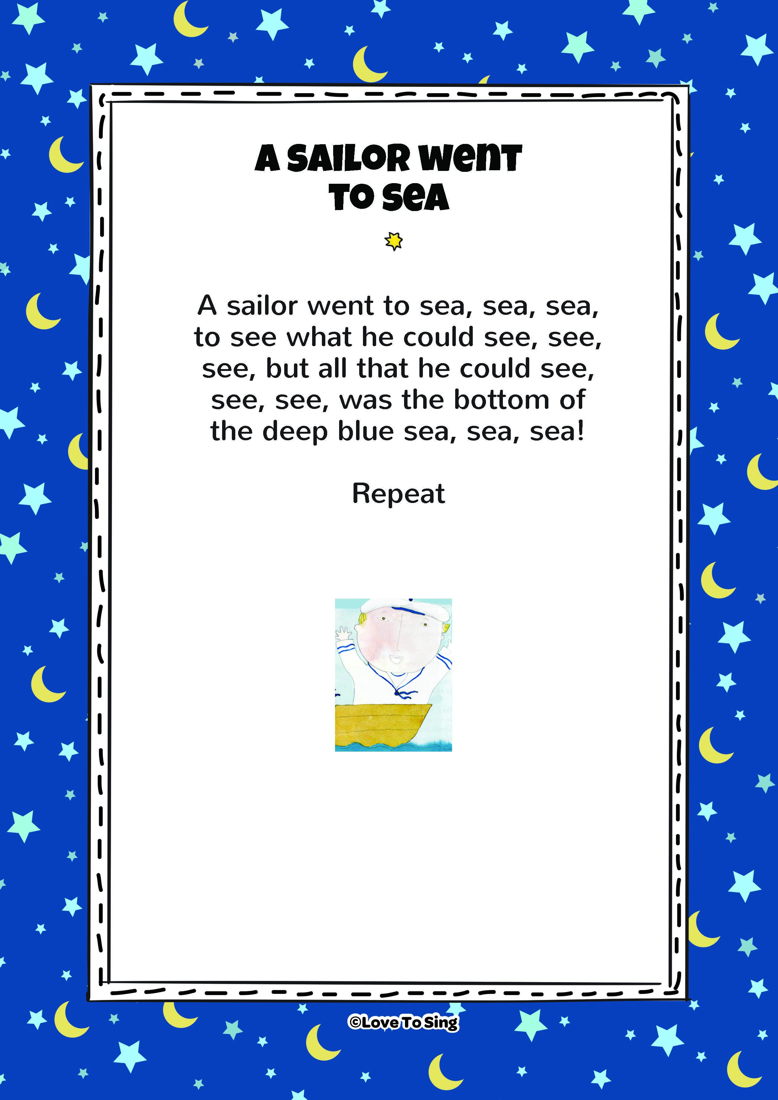 A Sailor Went To Sea Hello Song For Kids