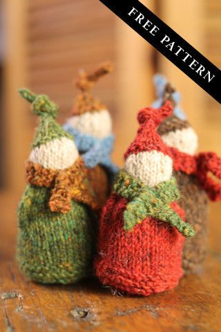 Pictures of Jolly Wee Elf - Free Newsletter Pattern from Churchmouse