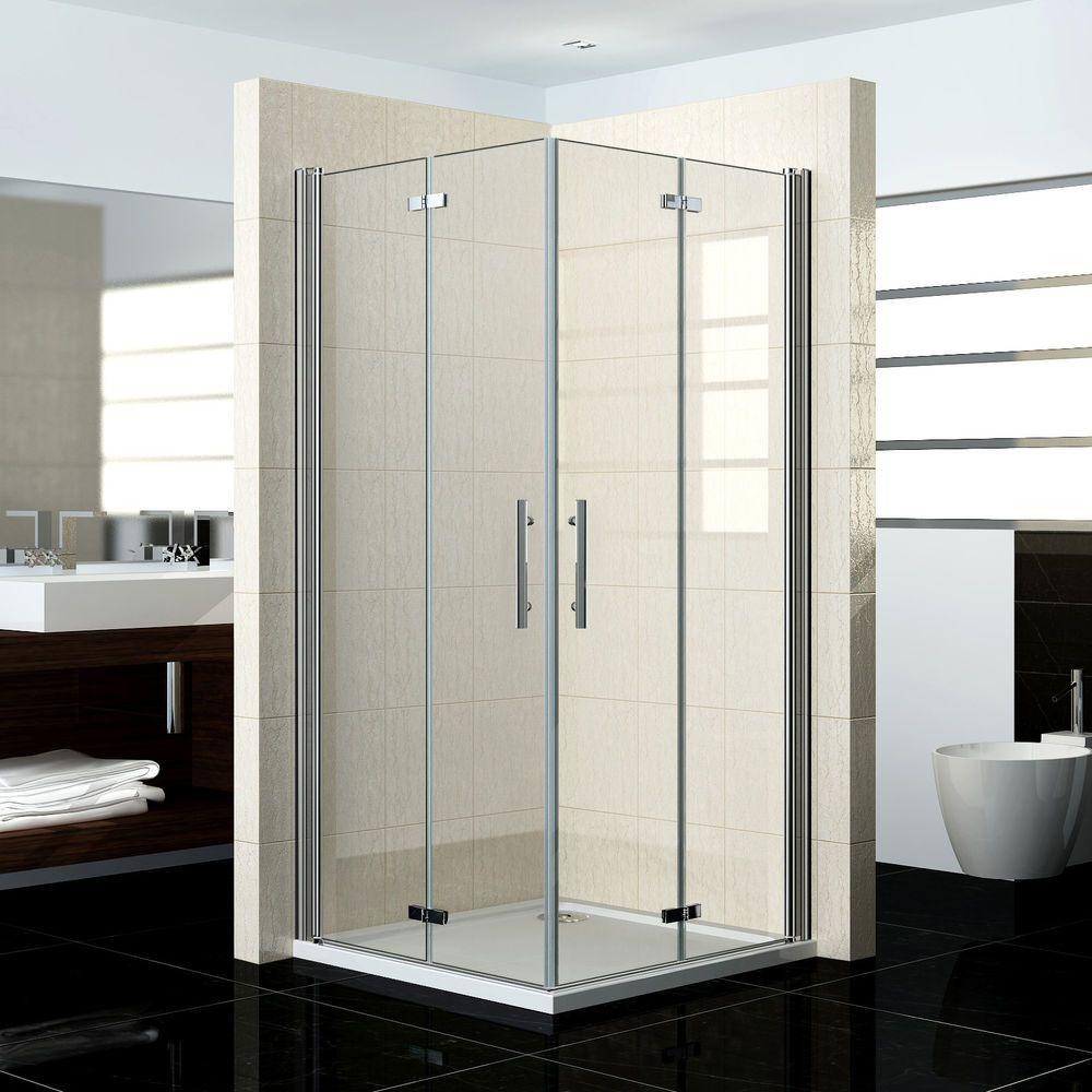 Fabulous Duschabtrennung Duschkabine 180° Schwingtür Duschwand Dusche NY84