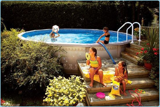 Shrubbery To Hide Pool Above Ground Pool Decks In Ground Pools