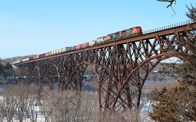 High Bridge Train St Croix River Minneapolis St Paul