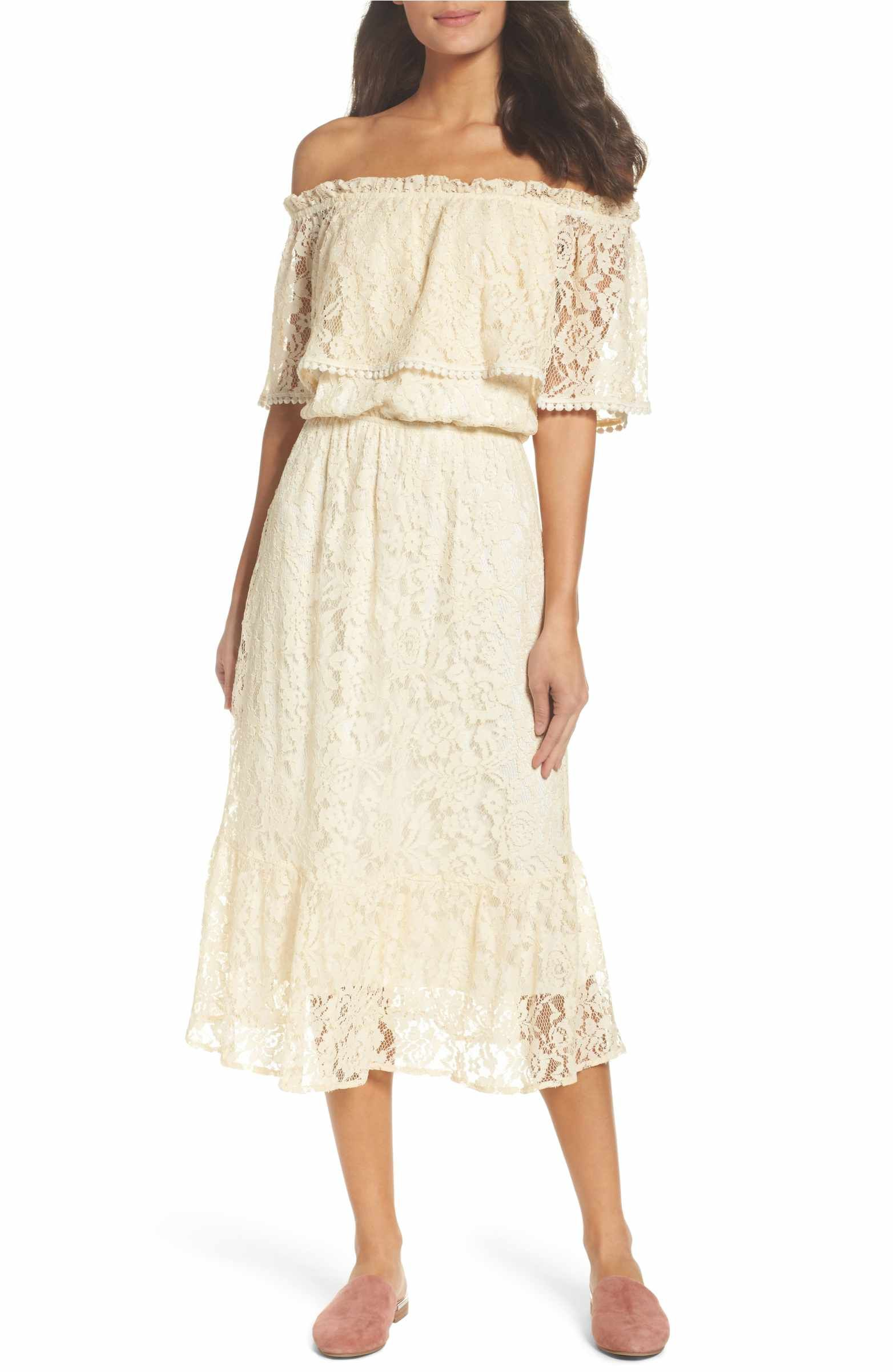 Thurley wedding dress  Popover Midi Dress  Midi dresses Nordstrom and Shoulder
