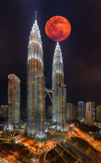 Image result for supermoon over kuala lumpur
