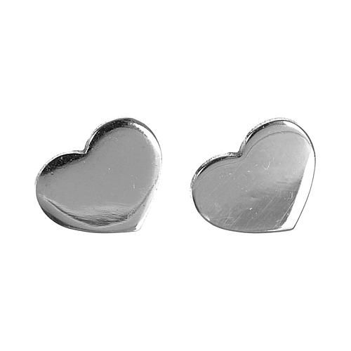 42d79bf62d45 Aretes AMEN Corazón plata 925 acabado Rodio  pendientes  aretes  aderezo   parure